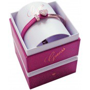 Coffret Guess Bijoux Coeur Cuir Rose UBS91311