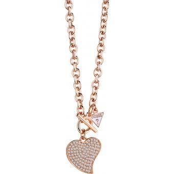 Collier et pendentif Guess Bijoux UBN71544 - Collier et pendentif Chaîne Or rose Femme