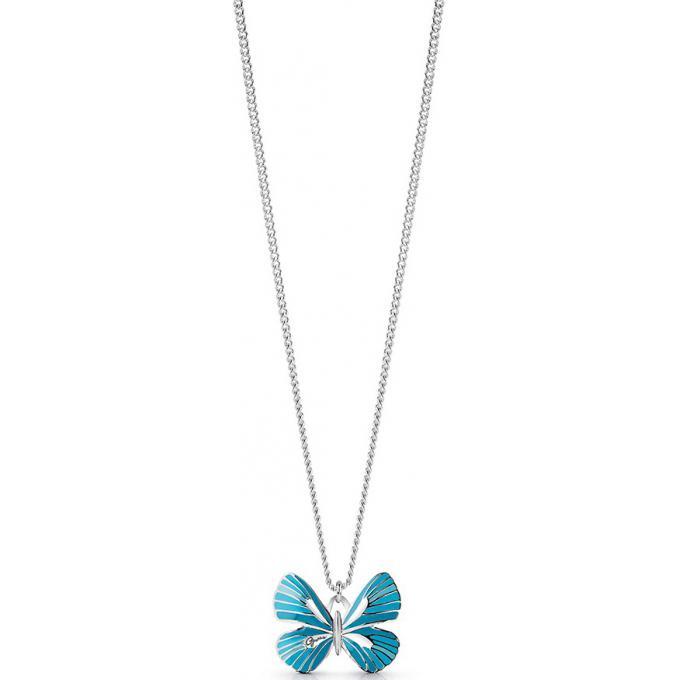 c3147ac75fcc Collier et pendentif Guess UBN85103 - Collier et pendentif Tropical Dream  Métal Rhodié papillon Bleu Femme