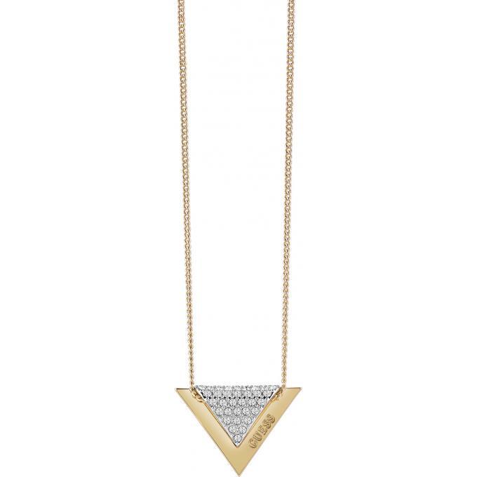93ab61020fdc Collier et pendentif Guess Revers UBN83068 - Collier et pendentif Serti  Triangle Or Femme