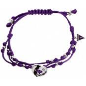 Bracelet Cordon Violet Cœur Guess - Guess