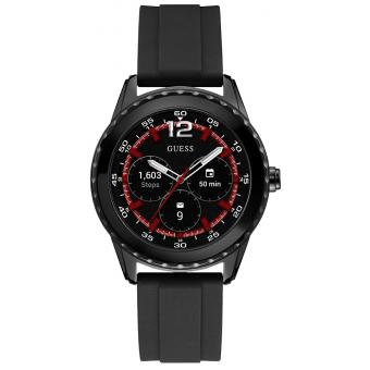 montre connect e guess c1002m1 montre connect silicone noir homme sur bijourama montre homme. Black Bedroom Furniture Sets. Home Design Ideas