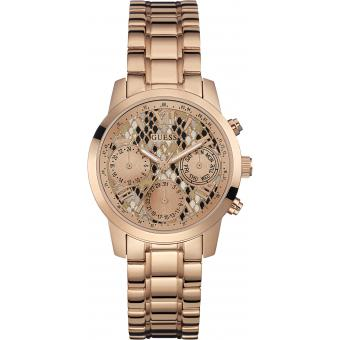 Montre Guess W0448L9 - Montre Multifonctions Or Rose Homme