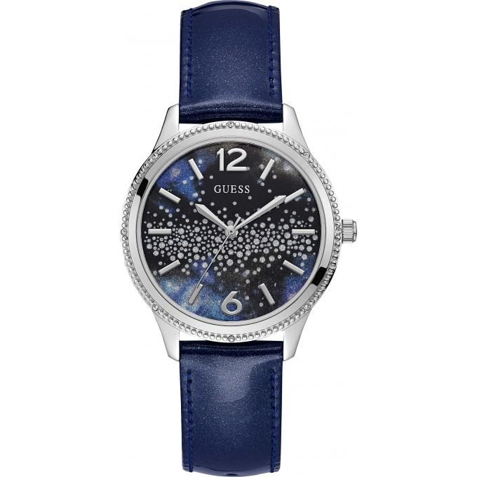 a691d9b049bda Montre Guess W1028L1 - Montre Cuir bleu Femme sur Bijourama - montre ...