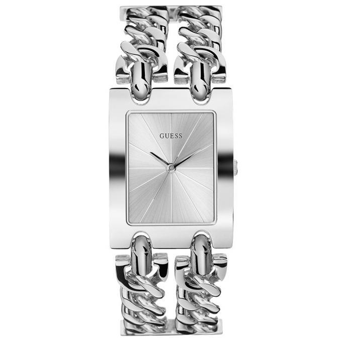 Montre Guess W1117L1 , MOD HEAVY METAL Acier Argenté Double Bracelet Chaîne  Femme 5/5 (2 avis)