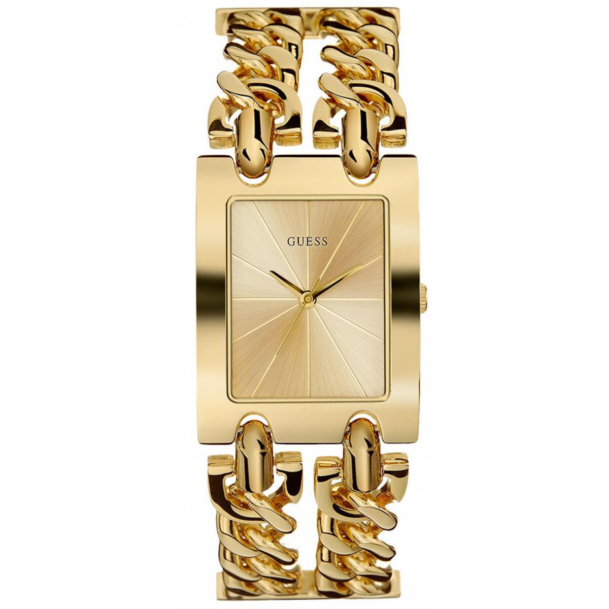 Montre Guess W1117L2 MOD HEAVY METAL Acier Doré Double Bracelet Chaîne Femme 45 (1 avis)