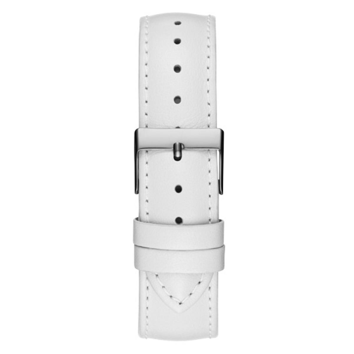 Montre Guess W1206L1 Montre Acier Boitier Cristaux Bracelet Cuir Blanc Femme 55 (1 avis) Plus d'infos