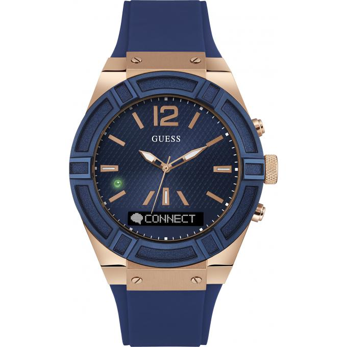 montre guess connect c0001g1 montre connect e bleue homme sur bijourama montre homme pas. Black Bedroom Furniture Sets. Home Design Ideas