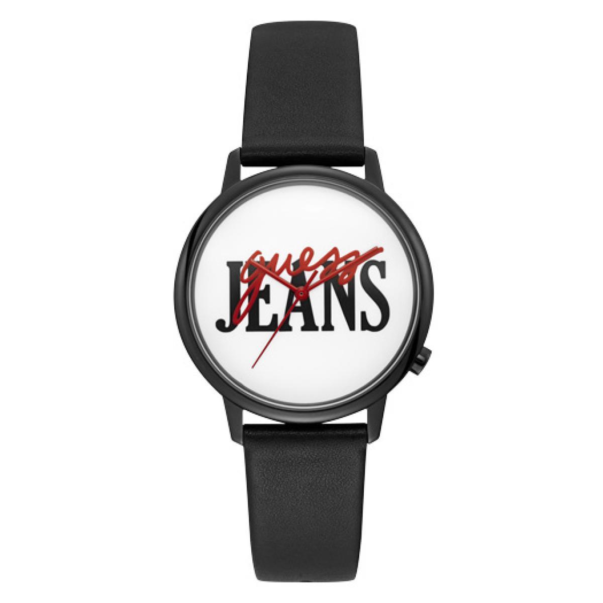 Montre Guess V1022M2 Montre Bracelet Cuir Noir Logo Guess Rouge et Noir Homme,Femme Plus d'infos