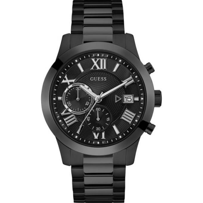 4034cb5575 Montre Guess W0668G5 - ATLAS Boitier Acier Noir Bracelet Acier Noir Cadran  Noir Homme