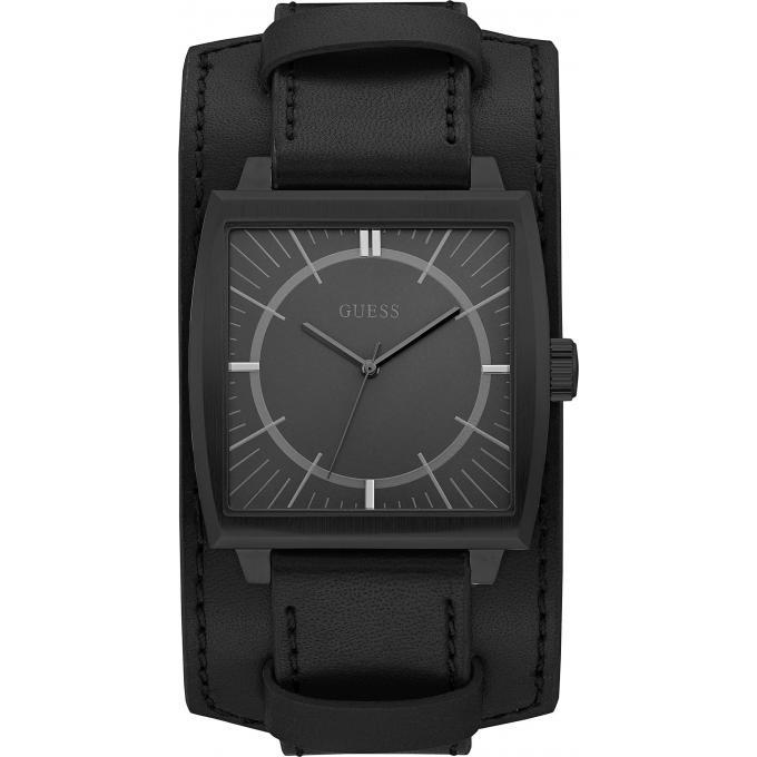 montre guess w1036g3 montre bracelet cuir noir homme sur bijourama montre homme pas cher en. Black Bedroom Furniture Sets. Home Design Ideas