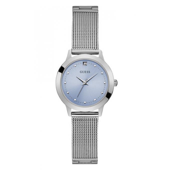 48970059d5 Montre Guess CHELSEA W1197L2 - Montre Acier Cadran bleu Femme sur ...