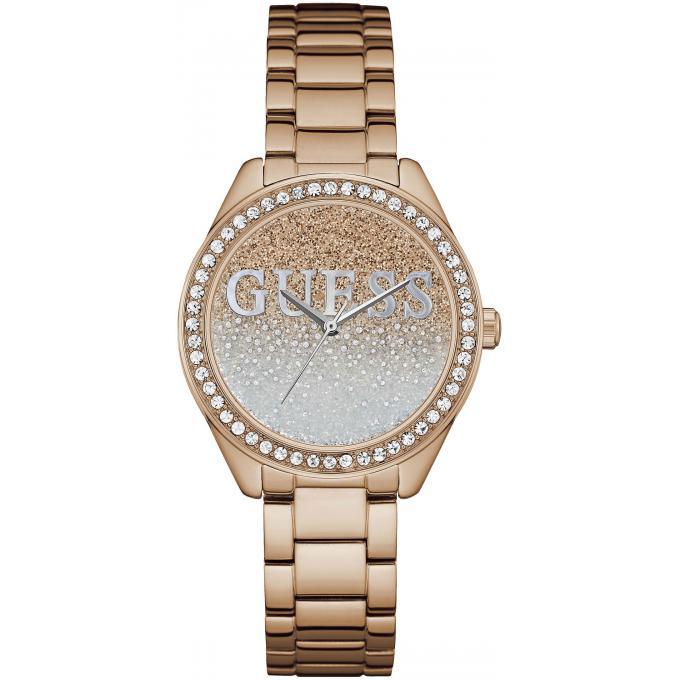 montre guess glitter girl w0987l3 montre acier rose cristaux femme sur bijourama montre. Black Bedroom Furniture Sets. Home Design Ideas
