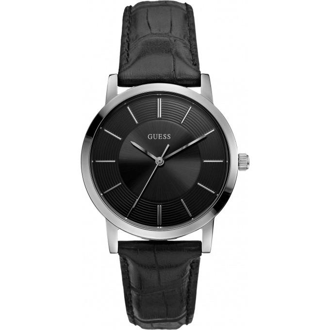 montre guess cadran noir bracelet cuir essential w0191g1 homme sur bijourama n 1 de la montre. Black Bedroom Furniture Sets. Home Design Ideas