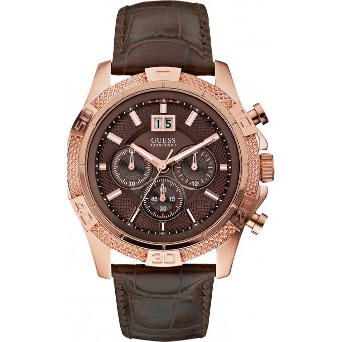 montre guess chronographe marron rose phantom w19531g2 homme sur bijourama n 1 de la montre. Black Bedroom Furniture Sets. Home Design Ideas