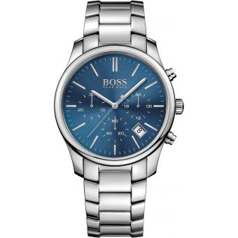 Montre BOSS TIME ONE 1513434 - Montre Grise Ronde Homme