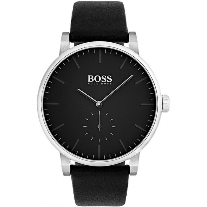 montre hugo boss 1513500 montre cuir cadran noir homme sur bijourama montre homme pas cher. Black Bedroom Furniture Sets. Home Design Ideas