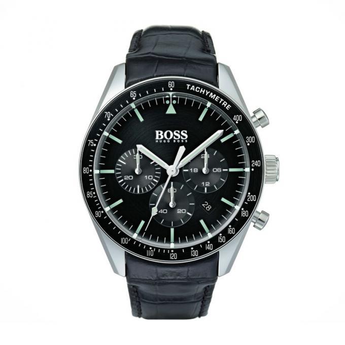 003c969c52848 Montre Hugo Boss 1513625 - Montre Chronographe Cuir noir Homme sur ...
