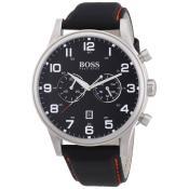 Montre Hugo Boss Ronde Tissu Noire 1512919