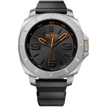 Montre Boss Orange SAO POLO 1513105 - Montre Mulltifonctions Silicone Homme