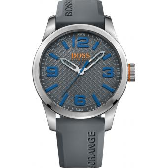 Montre BOSS ORANGE PARIS 1513349 - Montre Grise Silicone Homme