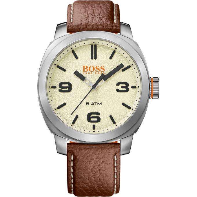 montre boss orange cape town 1513411 montre marron analogique homme sur bijourama montre. Black Bedroom Furniture Sets. Home Design Ideas