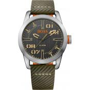 Montre BOSS ORANGE OSLO 1513415 - Montre Cuir Verte Homme