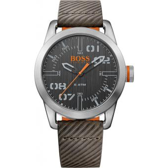 Montre BOSS ORANGE OSLO 1513417 - Montre Cuir Grise Homme