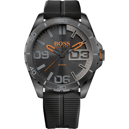 Montre BOSS ORANGE  BERLIN 1513452 - Montre Noire Silicone Homme