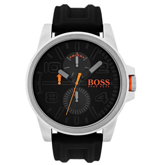 5514831028d Montre Hugo Boss Orange 1550006 - Montre Silicone Noir Dateur Homme ...
