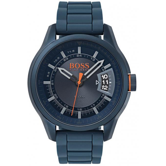 af21185cd64 Montre Hugo Boss Orange 1550049 - Montre Multifonctions Silicone Bleu Homme