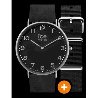 Montre Ice Watch Ice City CHL.A.BAR.36.N.15 - Montre Noire Double Bracelet Homme