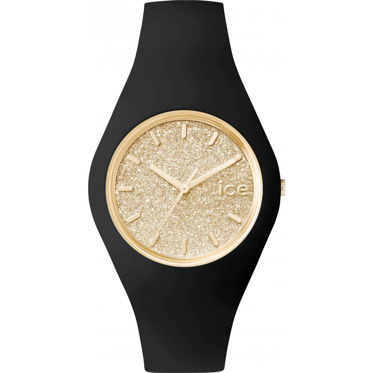 Montre Ice Watch Ice-Glitter ICE.GT.BGD.U.S.15 - Montre Or Noire  Femme