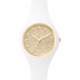 Montre Ice Watch Ice-Glitter ICE.GT.WGD.S.S.15 - Montre Blanche Or Femme