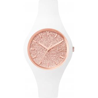 Montre Ice Watch Ice-Glitter ICE.GT.WRG.S.S.15 - Montre Rose Blanche Femme