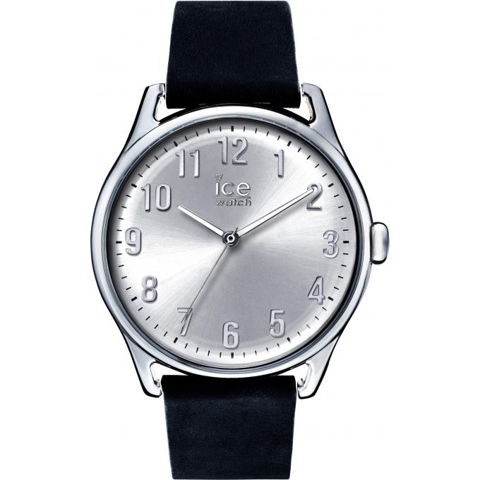 montre ice watch ice time 013042 montre taille l cuir cadran argent e homme sur bijourama. Black Bedroom Furniture Sets. Home Design Ideas