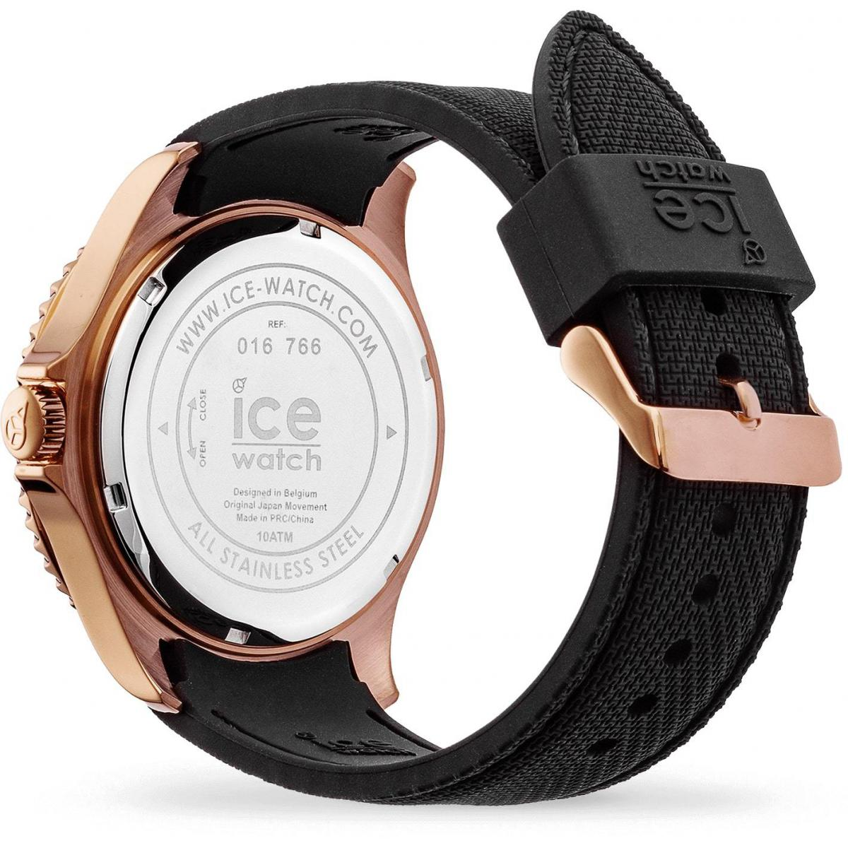 ICE steel - Black Rose-Gold - Large - 3H