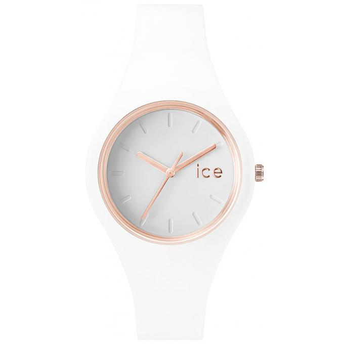 Montre Ice Watch ICE.GL.WRG.S.S.14 - Montre Blanche Analogique Femme
