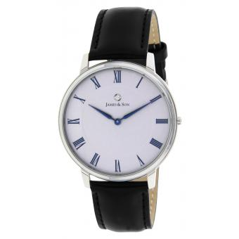Montre James And Son JAS10061 203 - Montre Cuir Noir Homme
