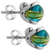 Boucles d'oreilles Jourdan Pierre Bleu Design AJS085BE