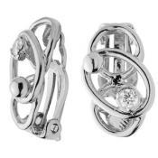Boucles d'oreilles Jourdan Argent Cristal Blanc AJS157