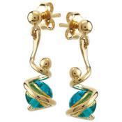 Boucles d'oreilles Jourdan Acier Bleu JS743 - Or