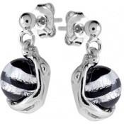 Boucles d'oreilles Jourdan Argent Perles Noires ABR051