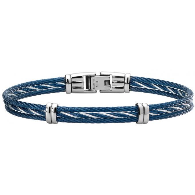 bracelet jourdan fz172beh bracelet acier bleu homme sur bijourama r f rence des bijoux homme. Black Bedroom Furniture Sets. Home Design Ideas