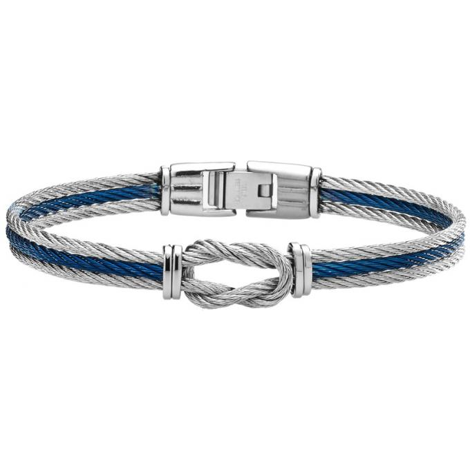 bracelet jourdan fz175h bracelet acier gris bleu homme sur bijourama r f rence des bijoux. Black Bedroom Furniture Sets. Home Design Ideas