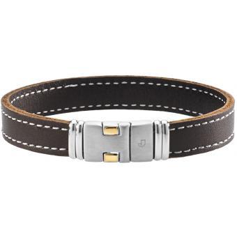 Bracelet Cuir Brun - Jourdan Bijoux - Jourdan