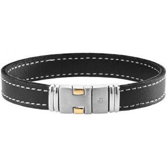 Bracelet Noir Cuir - Jourdan Bijoux - Jourdan