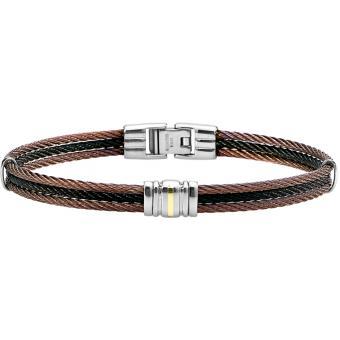 Bracelet Jourdan FZ170H - Bracelet Cordon Tricolore Homme