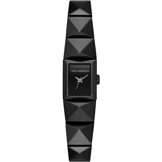 montre karl lagerfeld perspektive kl2607 montre noire rectangulaire femme sur bijourama n 1. Black Bedroom Furniture Sets. Home Design Ideas