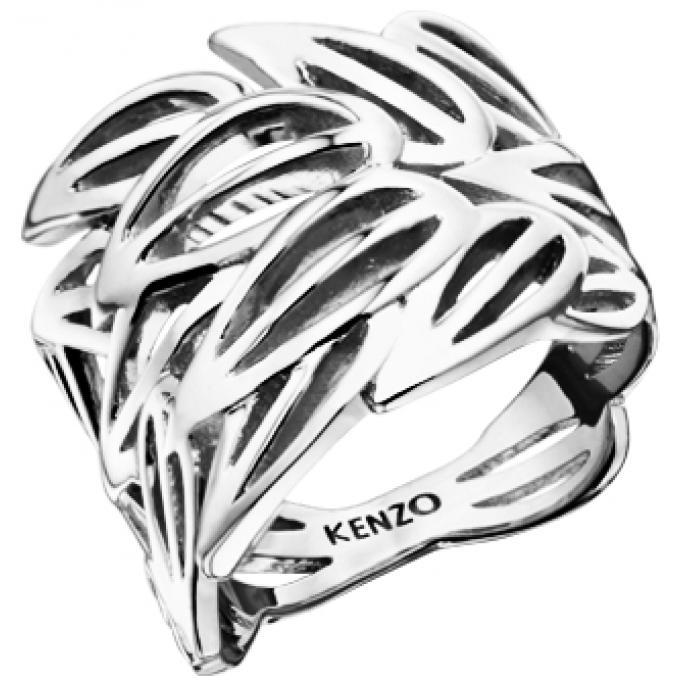 Bague Kenzo Bamboo 702634711000 , Bague Feuilles Argentées Femme. Bijoux  Femme